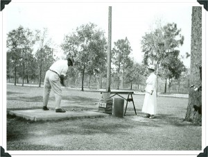 Teeing off at hole #1 at the WPCC, circa 1916