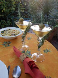 Fresh herbs add depth to the Herbtini