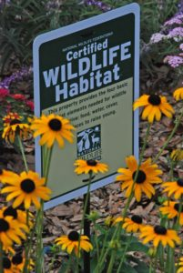 Show off the habitat garden with a sign