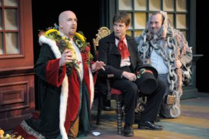 Paul Kiernan, Timothy Williams, and Mark Lainer star in Orlando Shakespeare Theater's 2009 production of Every Christmas Story Ever Told (And Then Some!). Photo by Tony Firriolo.