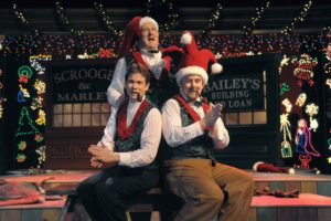 Timothy Williams, Mark Lainer, and Paul Kiernan star in Orlando Shakespeare Theater's 2009 production of Every Christmas Story Ever Told (And Then Some!). Photo by Tony Firriolo.